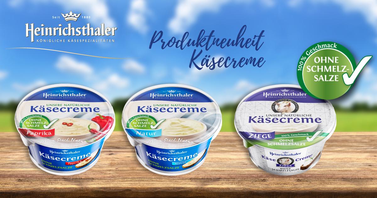 Heinrichsthaler mit Produktneuheit: Käsecreme