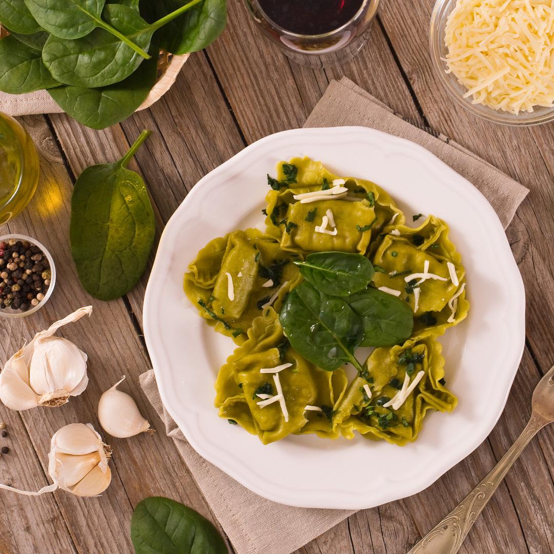 Spinat-Tortellini