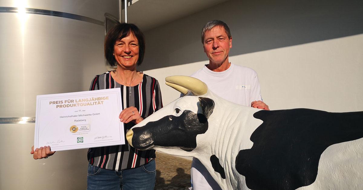 """Heinrichsthaler erhält """"Preis für langjährige Produktqualität"""""""