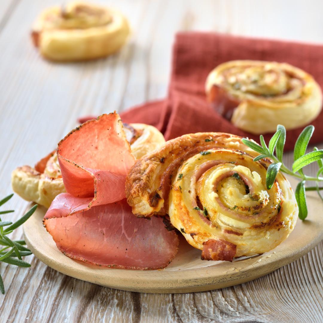 Schinken-Käse-Schnecken