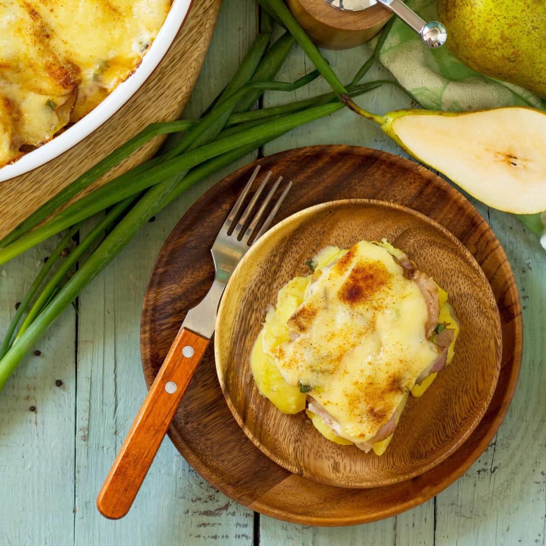 Kartoffel-Birnen-Gratin
