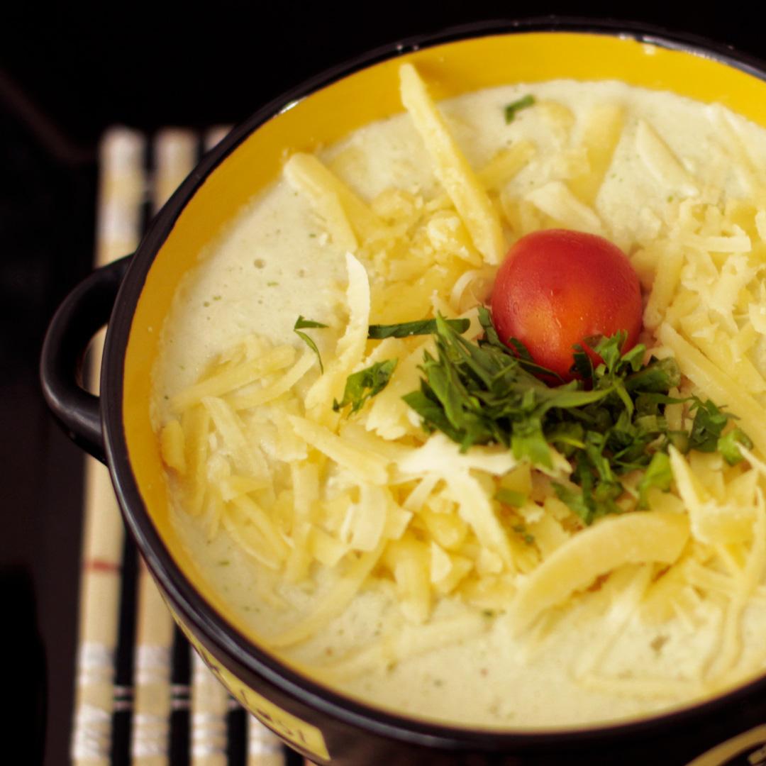 Blumenkohl-Käse-Suppe