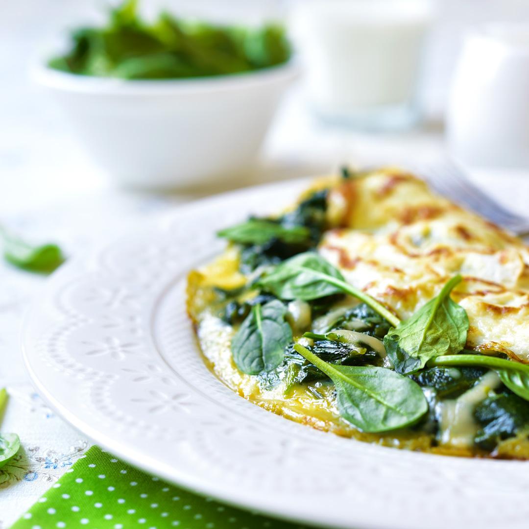 Omelett mit Spinat & Ziegenkäse
