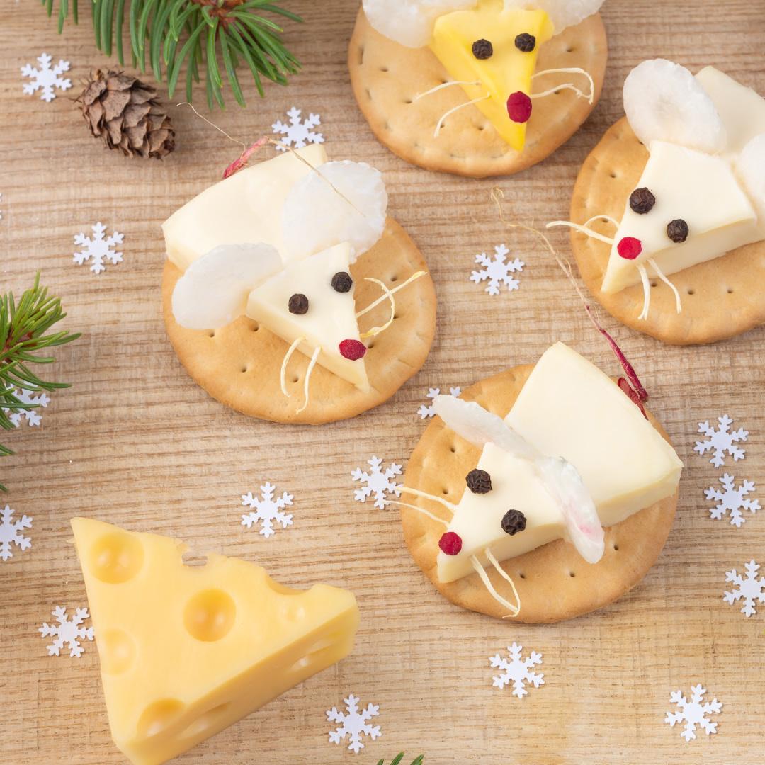 Käse-Mäuse-Arrangement