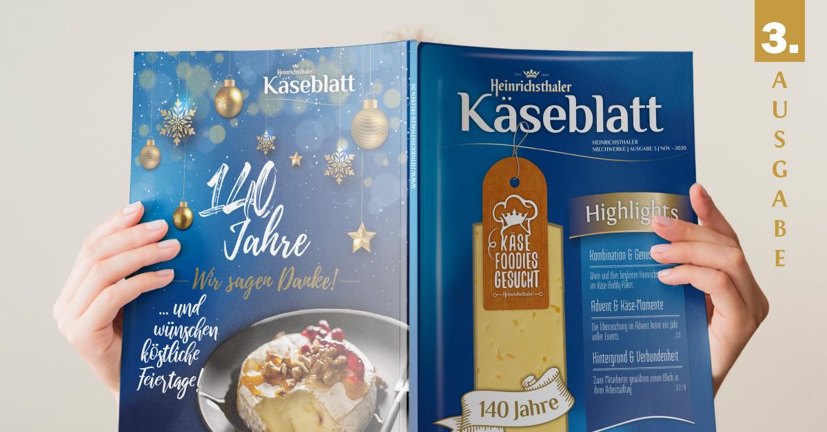 Käse-Entertainment mit weihnachtlichem Vorgeschmack