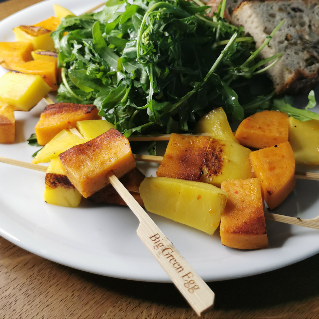 Saté Spieße mit Mango & Grill-Taler