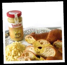 Senf-Curry-Käse-Grillstange