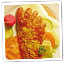 Dinkel-Käsefuß