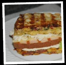 """Semmelknödel-Sandwich """"Leberkäse"""""""