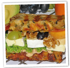 "Semmelknödel-Sandwich ""Käse satt"""